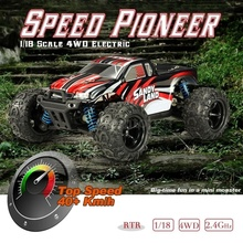 цена на RC Car 1:18 Racing Cars 9300 2.4GHz 4WD Sandy Land Off-road Remote Control Car 50KM/H High Speed Truck Off-Road Vehicle Toys