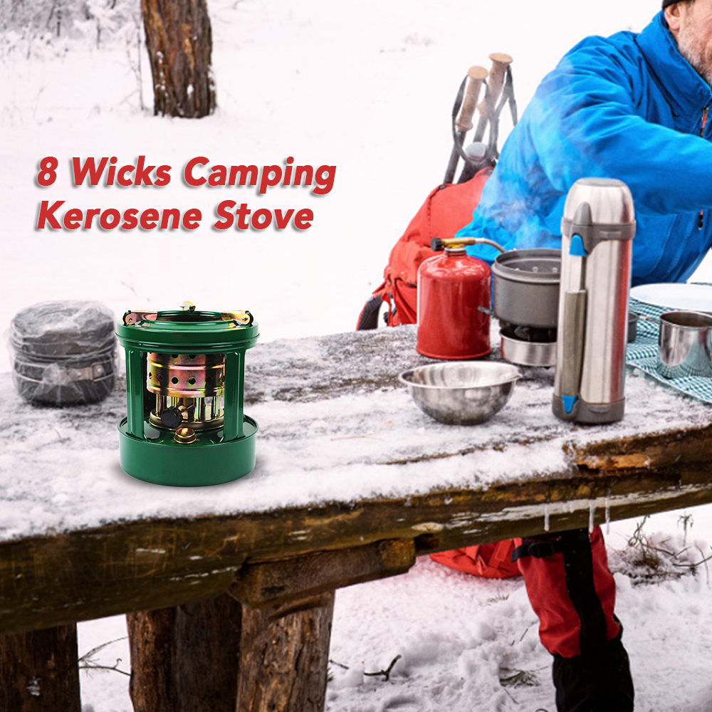 Image 5 - Outdoor Stove Portable Camping Heater 8 Wicks Kerosene Cooking Stove Camping Stove Windshieldalcohol Stoves-in Outdoor Stoves from Sports & Entertainment