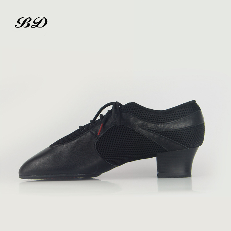 Sneakers BD 468 DANCE SHOES Latin Shoes Ballroom MEN Shoe Modern JAZZ Slip UP BLACK Genuine