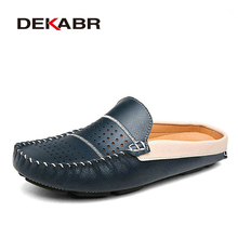 New Men Loafers Genuine Leather Shoes Men Flats Slip On Moccasins Men