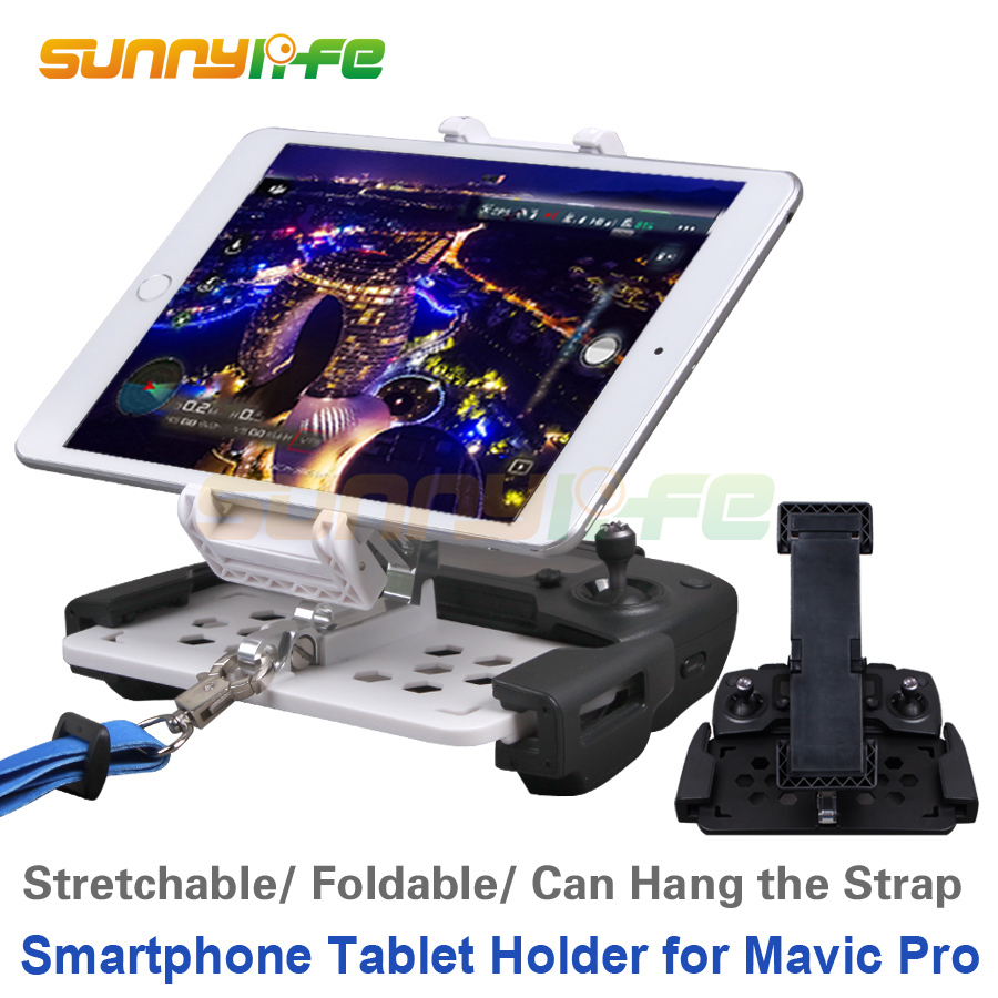 Fjernbetjening 5.5in Smartphone 7.9in 9.7in Tablet Support Holder Monitor Clip til DJI SPARK & Mavic 2 Pro & MAVIC AIR