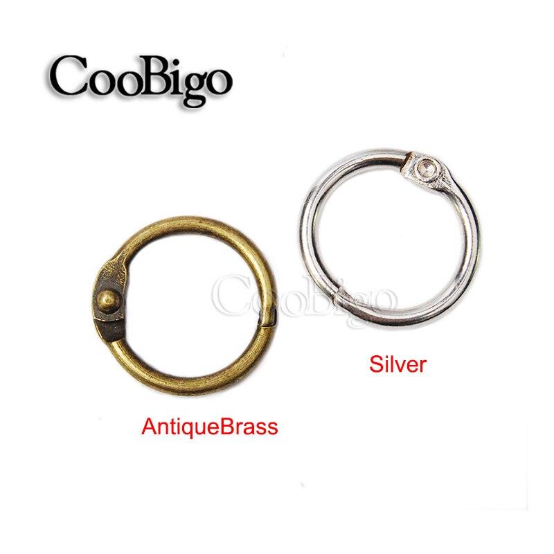 Metall Buch Loose Leaf Binder Scharnier Snap Ring 50/mm Inner Dia 6