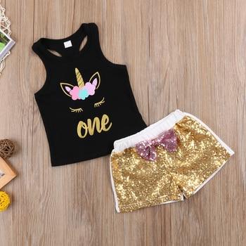 Unicorn Toddler Sleeveless T-shirt and Pant
