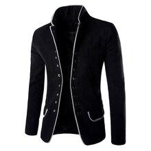 2017 herbst Männer marke Slim anzug mantel jacken herrenmode casual Suite kleine Männlichen wollkostüm jacke mäntel