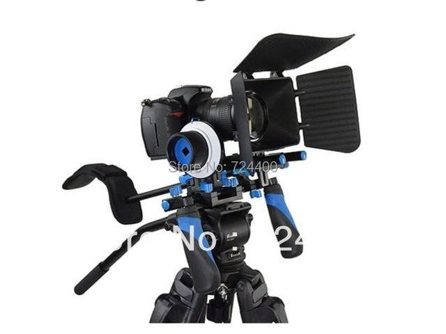 Steadycam [drop Shipping] Dhl free Shipping Dslr Rig Kit - Shoulder Mount Rl-02 + Follow Focus Matte Box for Dv / Hdv Camera