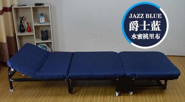 Простая складная кровать ланч-кровать легкий офисный деревянный для взрослых Доска кровать Открытый Портативный Ланч-кровать - Цвет: blue W110cm