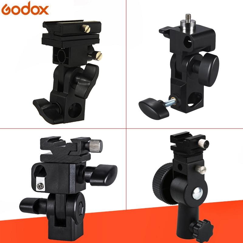 Godox Flash Holder With 1/4/hot Shoe Tool For Camera Flash Speedlite Led Light Umbrella Holder Mount Bracket 1/4 to 3/8 Consumer Electronics
