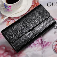 Lkprbd new hot fashion women long wallet belt crocodile pattern design brand fashion design MS card mode multi color Wallet