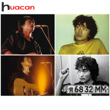 Huacan Embroidery Sale Russian Singer Viktor Tsoi 5D Diamond Painting Full Square/Round Drill Cross Stitch Mosaic Gift Drop Ship