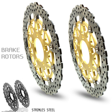 цена на CNC Motorcycle Front Floating Brake Disc Rotor & Rear Brake Disc Rotor For KAWASAKI ZX-14R ZZR1400 GTR1400 2006 2007-2014