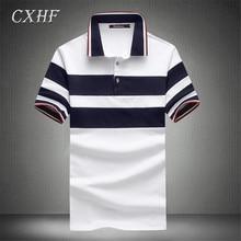 Summer Men Polo Shirts Striped Patchwork Short Sleeve Cotton Slim Fit fashion T-shirt Casual Business Men polo Shirt Brand