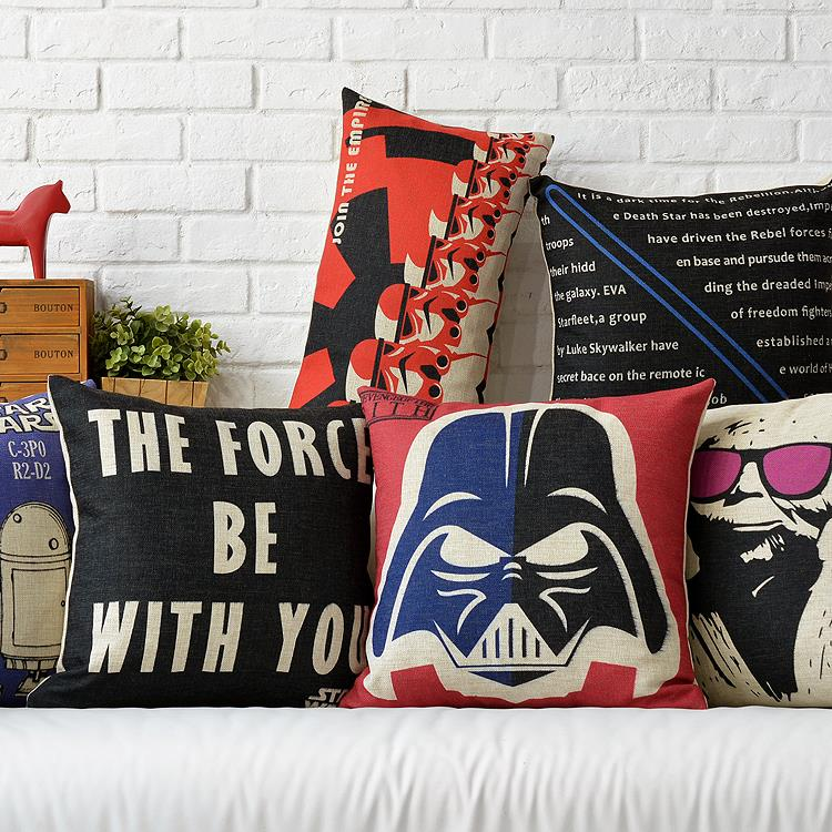 Film Poster Star Wars Pillow Cushion Linen Pillowcase Office Home Decorative Pillows Sofa Cushions