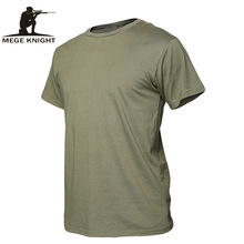 MEGE Summer Cotton T-shirt, Men Military Dry Camo Camp Tees, Camouflage Breathable Tactical  Army Trainning Combat T Shirt(China)