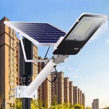 1pc New Led Street Light 20W 40W 70W 100W 200W Solar  Wall Lamp with Remote Control Waterproof for Plaza Garden Yard