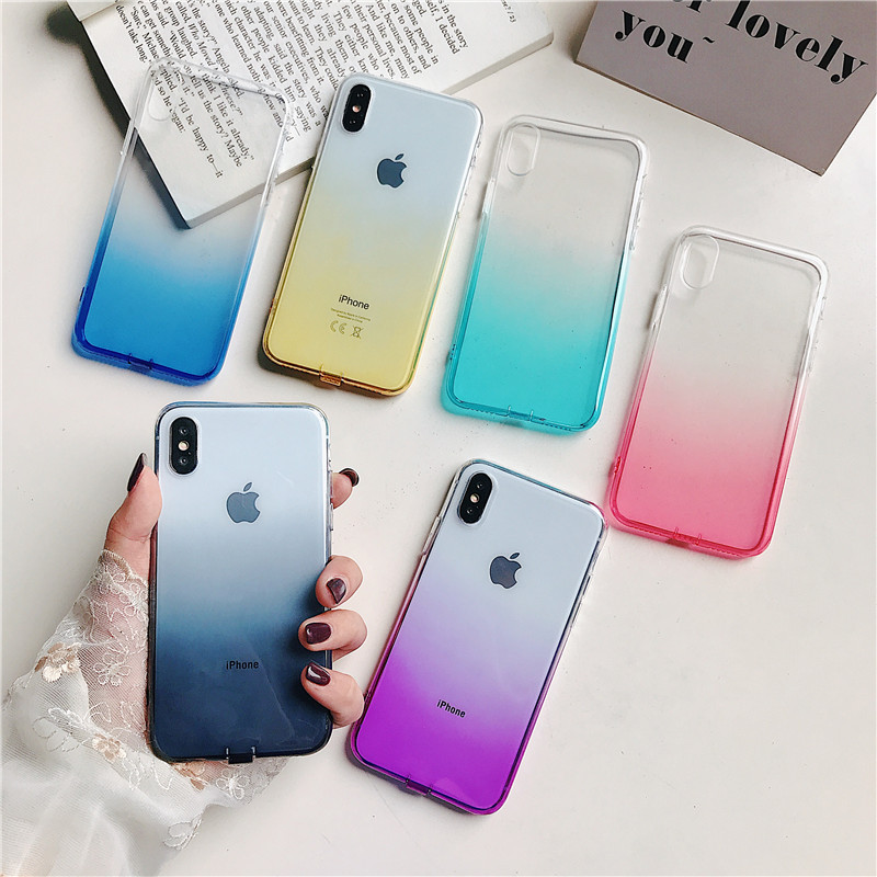 Esamday Corlorful Silicon Soft TPU Case For 11 Pro 7 8 6 6s Plus 7Plus 8Plus X XS MAX XR Phone Case For iPhone 5 5s SE 6sPlus 1
