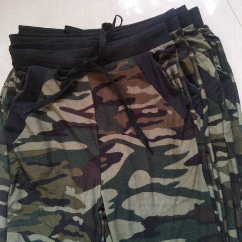 Sweatpants Harem Como Pants Drawstring Pantaloons Loose Female High Waist Pocket 29