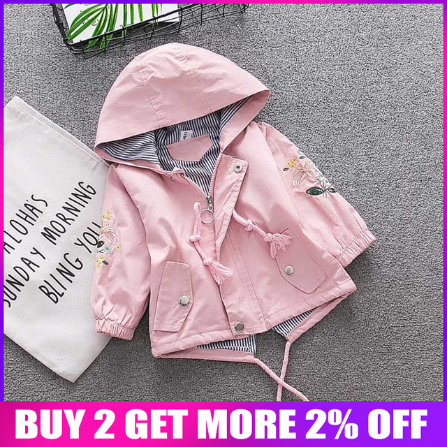 2019 New Arrival Baby Girl Jacket Hoodies Long Sleeve TopCotton Outwear Suit Infant Fashion Toddler Girl Clothes