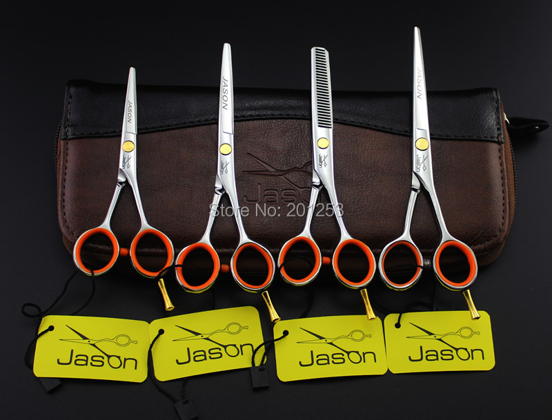 """4.0"""" 5.0"""" 5.5"""" JASON Smallest Hair Cutting Scissors Professional Hair Scissors For Barbers Hairdressing Thinning Shears LZS0339"""