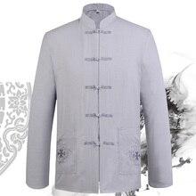 Мужская рубашка с длинными рукавами на весну и осень, цвета: черный, синий, белый, бежевый, серый, 5 цветов, одежда для боевых искусств с крыльями Чун, кунг-фу, Тай-Чи