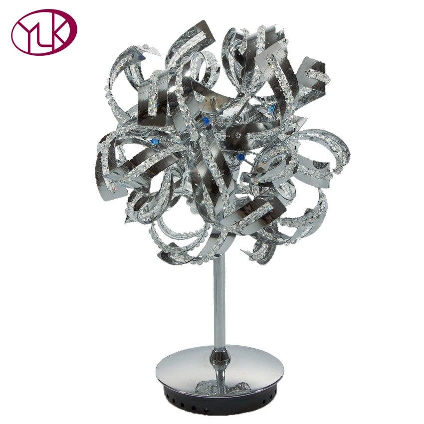Современные Дизайн Chrome полета настольная лампа настольная Освещение свет dia320mm * H500mm мяч Дизайн Кристалл Настольная лампа ...