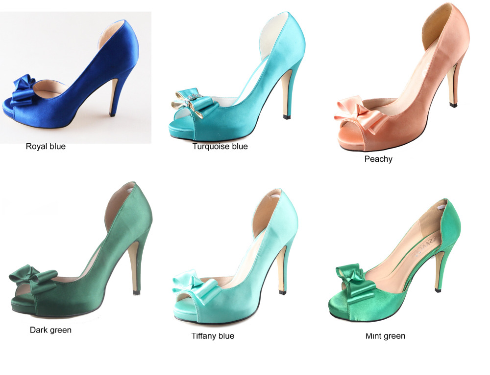 Creativesugar handmade green mint blue dorsay bow shoes custom made creativesugar handmade green mint blue dorsay bow shoes custom made pumps bridal wedding party evening dress shoes peachy mint in womens pumps from shoes junglespirit Images