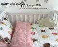 Baby bedding set 3 unids/set bedding hoja + almohada + funda nórdica cuna bedding set 100% algodón suave de la historieta bebé juego de cama
