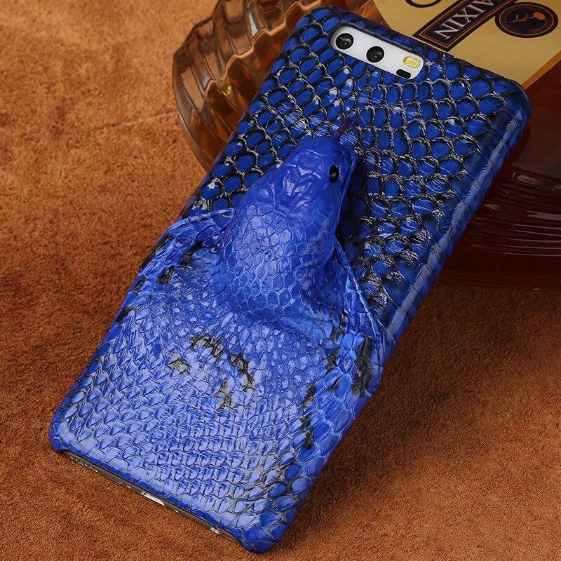 Marque en peau de serpent véritable étui de téléphone pour xiaomi mi 6 téléphone couverture arrière étui de protection en cuir étui de téléphone pour xiaomi mi mi X 2 s - 6
