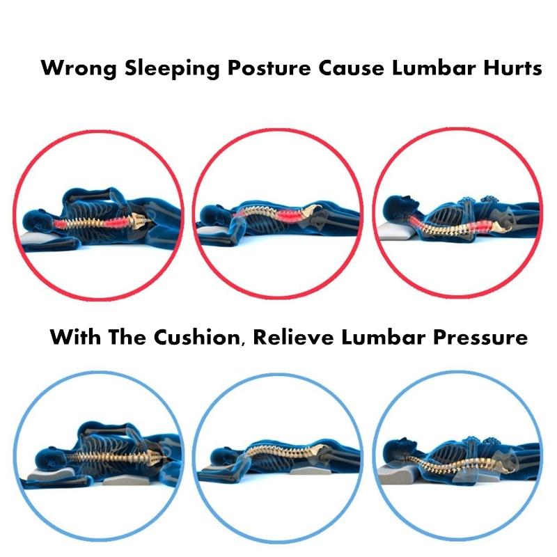purenlatex pillow for pregnant women memory foam triangle orthopedic pillows waist back support cushion slow rebound pressure