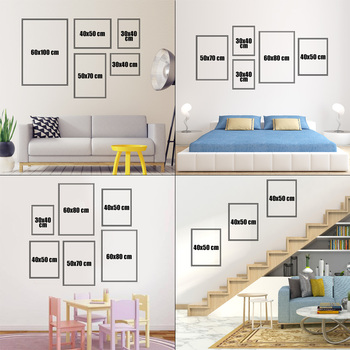 Wall art prints - sizes and set variations