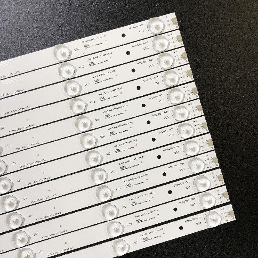 11 PCS set New LED Strip Replacement HD500DU B01 RSAG7 820 6311 ROH For Hisense 50