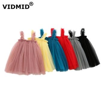 VIDMID Baby Girls vest Dresses Cotton Brand summer Girls lace Dress Kids girls Clothes children's sleeveless clothing 7065 01 1