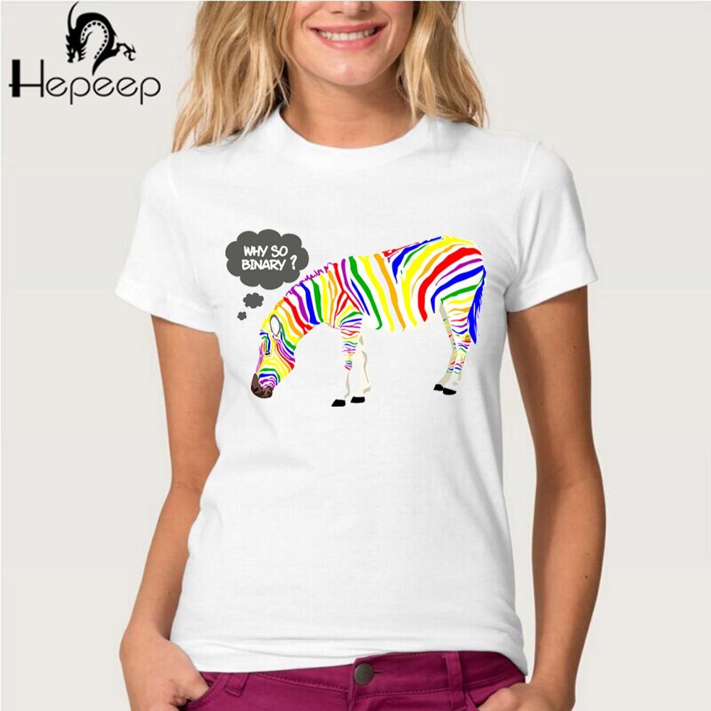 Zebra shirt design - Hepeep 2017 New Rainbow Zebra Design Print Short Sleeve Women S T Shirt Cool Hipster Tee