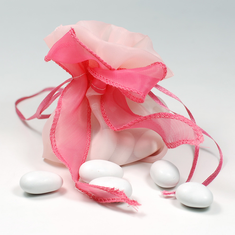 Free ship! Set of 20 pink Wedding Favor bags Fabric Bridal Shower ...