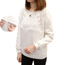 Apregies Maternity Nursing Top Sweatshirt Spring Long Sleeve Breastfeeding Tops T Shirt Pullover Pregnant Fashion Clothes