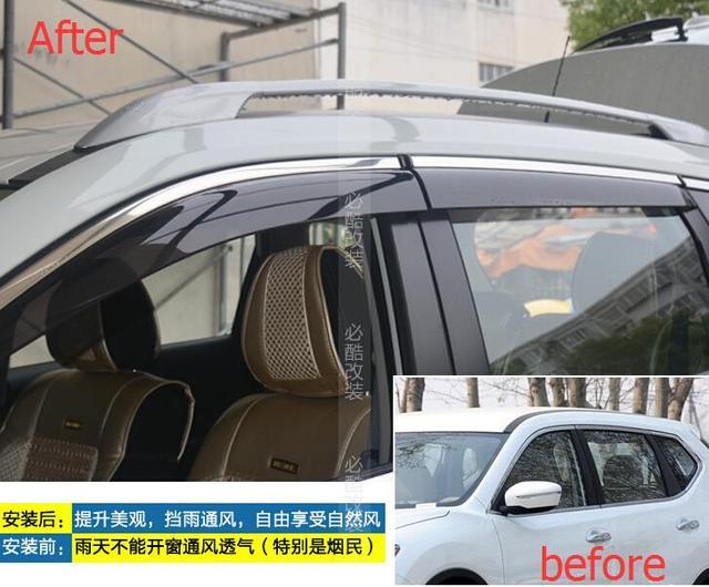 Внешний Для Nissan X-Trail 2014/Rogue 2014 Окна Навесы Козырьки Ветер Дефлектор Козырек Дождь Гвардии Vent