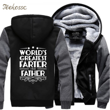 Worlds Greatest Father Fashion Letter Printed Hoodies Sweatshirts Men 2018 Winter Jacket Male Warm Fleece Top Quality Hoodie