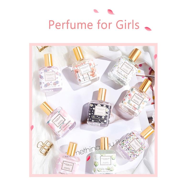 Perfume For Women Atomizer Bottle Glass Fashion Lady Female Parfum Long Lasting Elegant Refreshing Flower Fragrance Deodorant