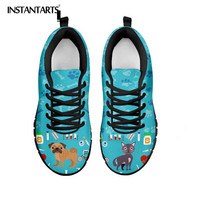 INSTANTARTS Veterinarian Sneakers 2019 New Design Women Casual Mesh Flats Shoes Female Girl Fashion Lace Up Woman's Walk Sneaker