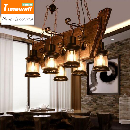 LOFT retro bar industrial wind country country solid wood chandelier personality old boat wood wood Chandelier цены онлайн