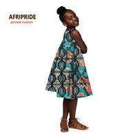 2018 african dress for women african clothes kids dashiki print cotton wax matching dresses children summer plus sizeA724501