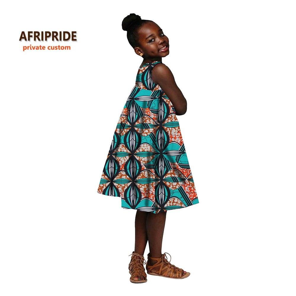 2018 Afrikanischen Kleid Für Frauen Afrikanische Kleidung Kinder Dashiki Drucken Baumwolle Wachs Passenden Kleider Kinder Sommer Plus Sizea724501