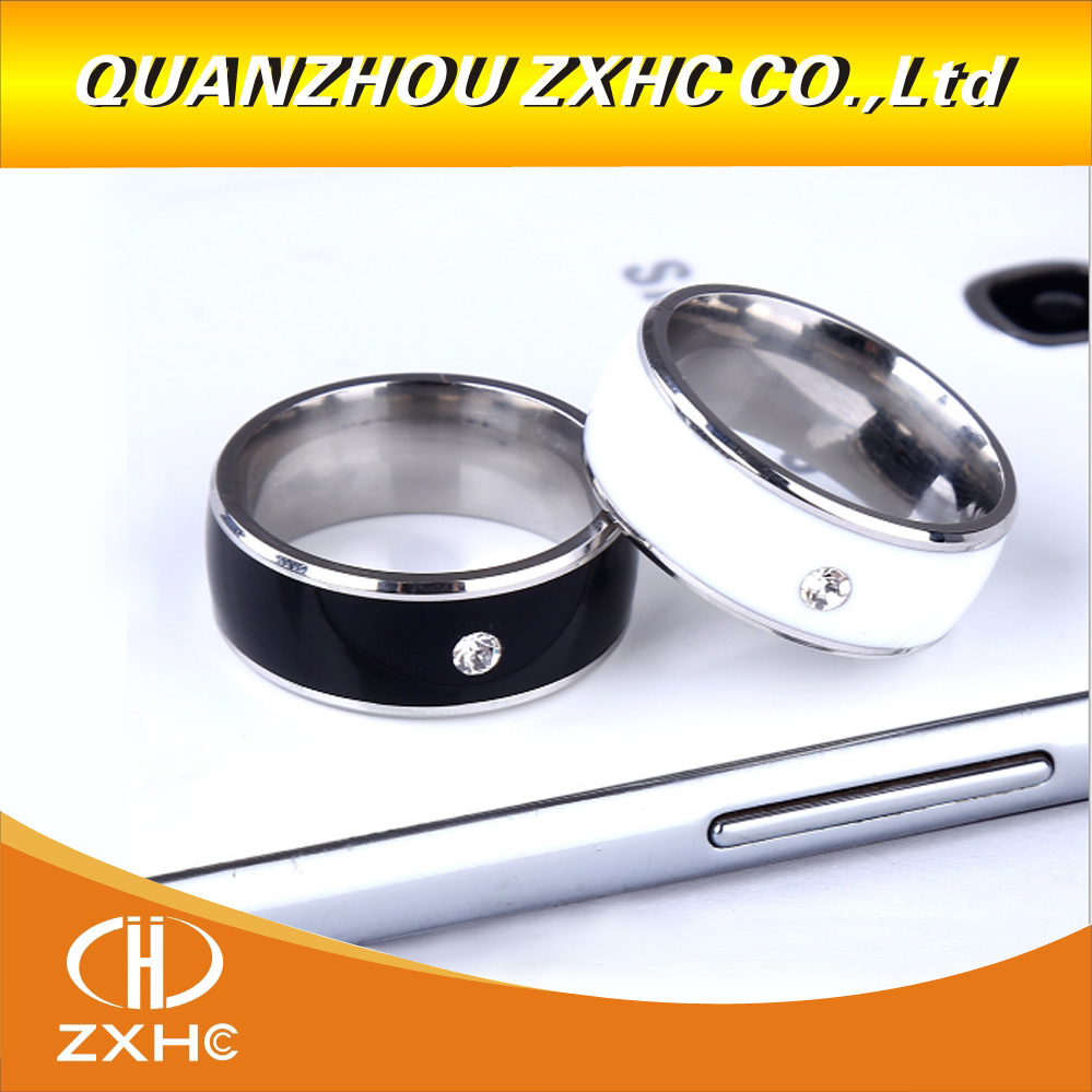 Titanium Material White Or Black Waterproof Intelligent Magic Smart NFC Ring For Android NFC Phone