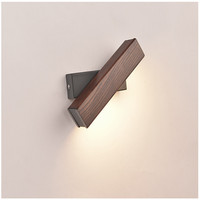 Wood LED Rotated Wall Lamp Bedside Night Light Modern Nordic Solid Bedroom Living Room Aisle Sconce Light Fixture Wall Decor Art
