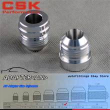2pcs AN -10 AN10 Male Aluminium Adapter Weld Bung Nitrous Hose Fitting Tank Cell(China)