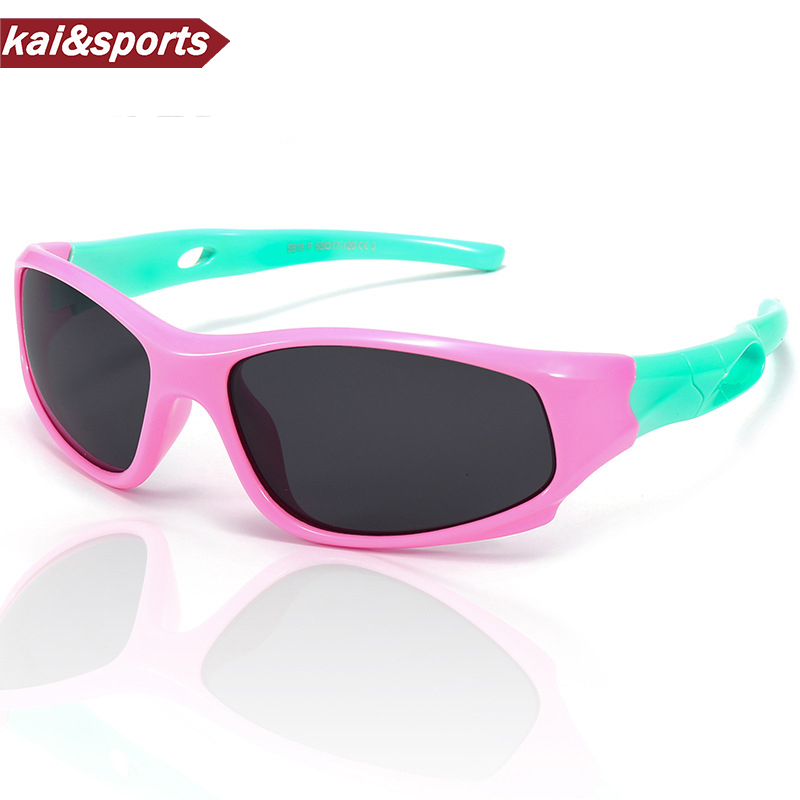 Polarized Cycling Sunglasses Memory-Materials Eyewear Boy Girl Kid UV Quality Children
