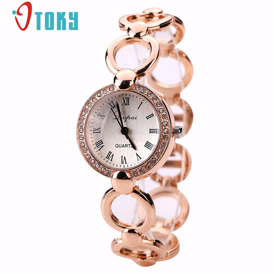 OTOKY Quartz Watch Fashion Bracelet Watch Dress For Women Rhinestone Alloy Band Wrist Watch Relogio Feminino #30 Gift 1pc