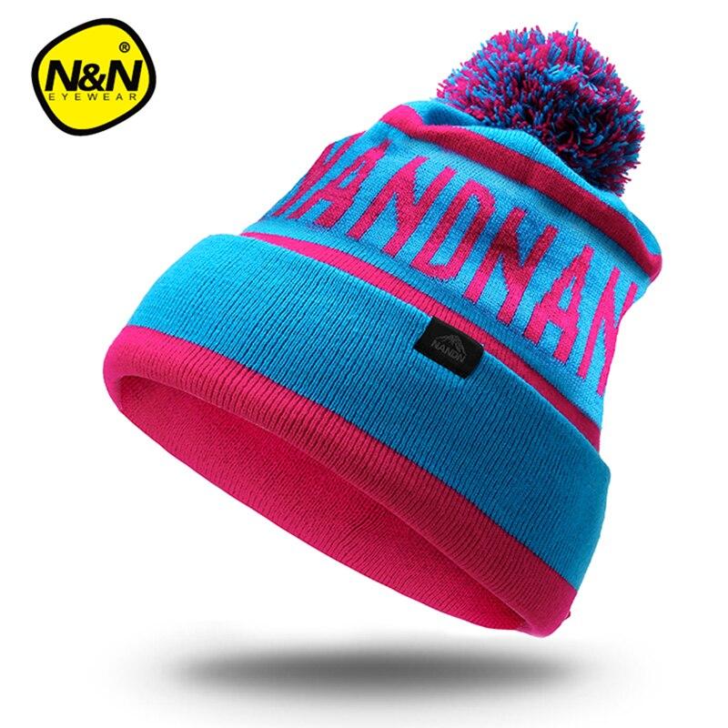 """NANDN rudens žieminės skrybėlės unisex megzti """"Skullies"""" - Sportinė apranga ir aksesuarai - Nuotrauka 5"""