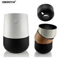 Carry Travel Protective Cover Base Holder Case For Google Home Smart Speaker Personal Assistant Leather Plastic