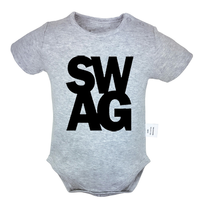 Bodysuits & One-pieces Enthusiastic Funny Swag Symbol Printed 0-18m Newborn Baby Girl Boys Clothes Short Sleeve Romper Jumpsuit Outfits 100% Cotton Summer Sets