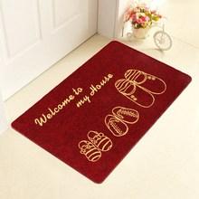 Venta caliente felpudo felpudo antideslizante alfombra de absorción de agua home room carpet de cocina lindo impreso de pie bienvenido alfombra tapete